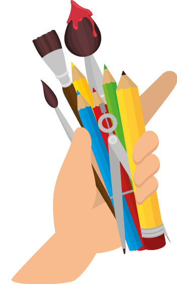 Art Lessons Hand Supplies Icon