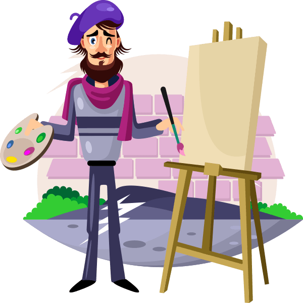 Artist Painting Canvas Icon 1