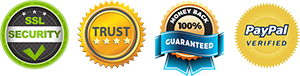SSL - Trust - 100% Money Back Guarantee - Paypal Verified